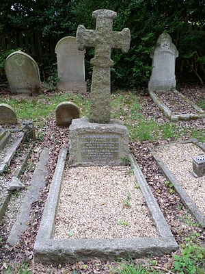 Clement Bailhache - Grave of Clement and Fanny Bailhache, St Andrew's church, Totteridge.