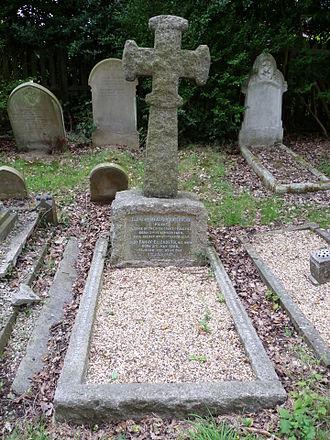 Clement Bailhache - Grave of Clement and Fanny Bailhache, St Andrew's church, Totteridge.
