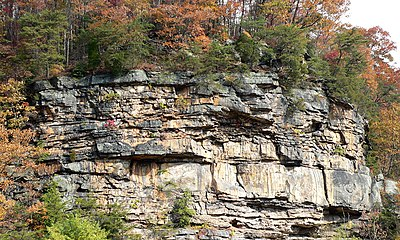 Cliffs overlooking the New River near Gauley Bridge, WV.