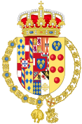 Coat of arms of Carlos Maria of Bourbon-Two Sicilies (External Ornaments as Infante of Spain).svg