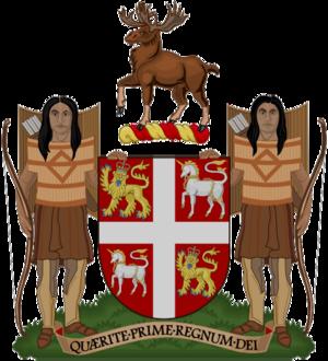 Monarchy in Newfoundland and Labrador - Image: Coat of arms of Newfoundland and Labrador