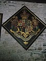 Coat of arms on the north wall at St John the Baptist, Ditton Priors - geograph.org.uk - 1447195.jpg