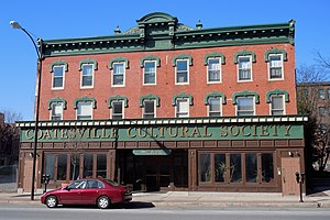 Coatesville Historic District - Coatsville Culture building in the Coatesville Historic District, March 2011