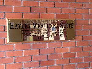 Cobham Intermediate School - The Hayley Westenra Suite commemorates the famous singer