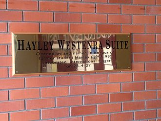 Cobham Intermediate School - The Hayley Westenra Suite commemorates the famous singer