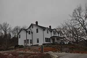 Minot's Ledge Light - The off-duty lightkeeper's house was located in Cohasset.