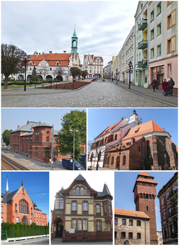 Collage of views of Kluczbork.png