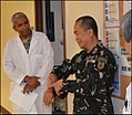 Colonel Cirilito Sobejana AFP at the Tripler Army Medical Center 7 April 2015.jpg