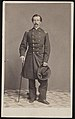 Colonel William T.C. Grower of Co. D, 17th New York Infantry Regiment in uniform with cane.jpg
