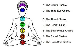 This picture depicts the seven major Chakras w...