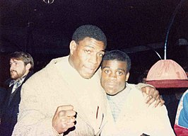 Frank Bruno (links) en Errol Christie
