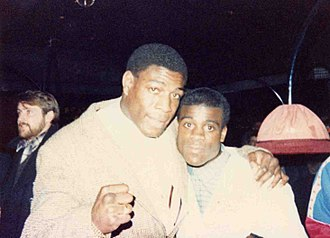 Frank Bruno - Bruno (left) with Errol Christie