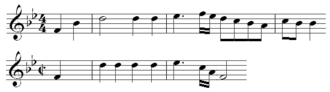 Adelaide (Beethoven) - Image: Comparison Of Two Themes In Beethoven Adelaide
