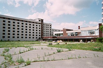 Concord Resort Hotel - Concord remains, summer 2005.
