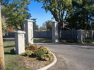 Confederate Memorial Gates in Mayfield - Image: Confederate Memorial Gates in Mayfield last