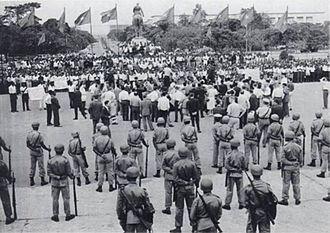 Mouvement National Congolais - MNC-Kalonji members protest Lumumba's government