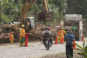 Villa Tunari – San Ignacio de Moxos Highway - Construction of the highway, as observed by a UN-Página Siete team, July 2011