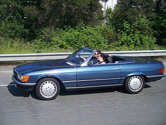 Driving - Convertible with a driver and a passenger