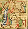 Coronation of Henry the Young King - Becket Leaves (c.1220-1240), f. 3r - BL Loan MS 88 3.jpg