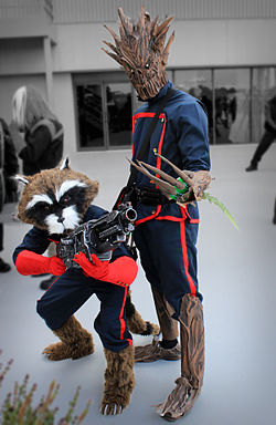 Cosplays de Rocket Raccoon et Groot