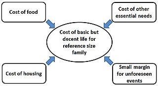 Minimum income necessary to meet basic needs