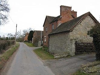 Ashford Carbonell - Image: Cottages On Huntington Lane, Ashford Carbonell geograph.org.uk 1759248