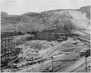 Coulee Dam, Washington - Dam under construction, possibly around 1937