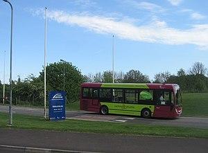Courtney Buses - Alexander Dennis Enviro200 Dart in Basingstoke Centre Shuttle livery at Basingstoke Leisure Park in May 2009