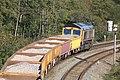 Cowley Bridge - GBRf 66741 ballast train for Westbury.JPG