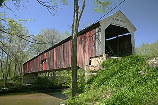 Cox Ford Covered Bridge place in Indiana listed on National Register of Historic Places