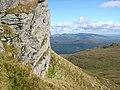 Crag on the hillside below Creag Sgoilte - geograph.org.uk - 981590.jpg