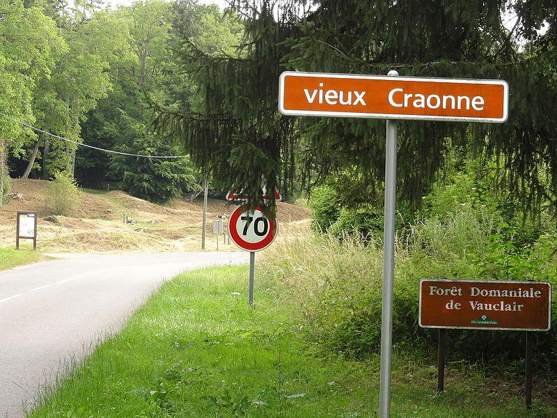 Craonne (Aisne) Vieux Craonne, panneau d'entrée