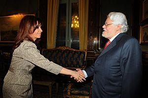 Carlos Gaviria Díaz - Carlos Gaviria meeting with President of Argentina Cristina Fernández in 2008.