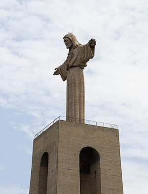 Religion in Portugal - The Sanctuary of Christ the King overlooking Lisbon in Almada.