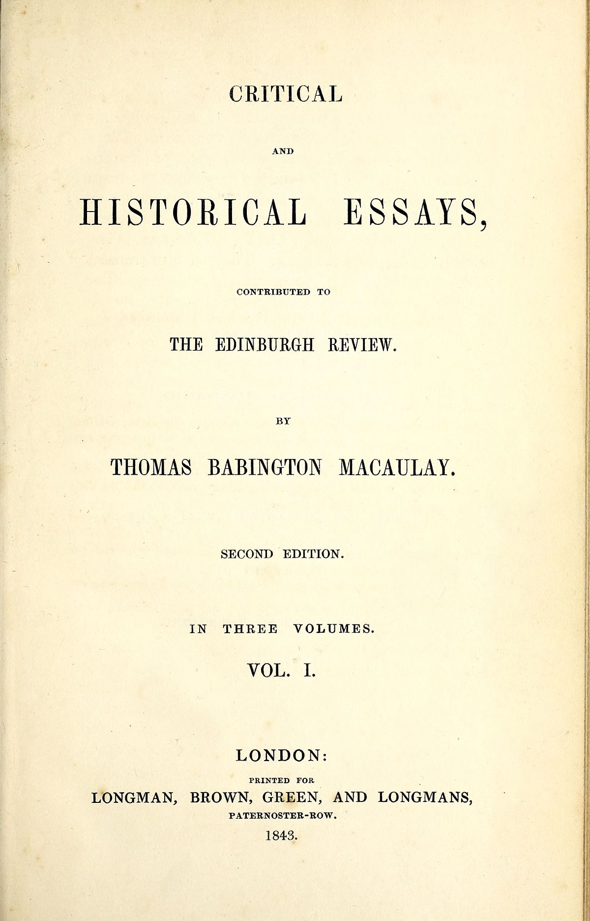 thomas babington macaulay essay on milton  thomas babington macaulay essay on milton