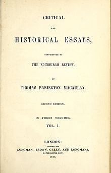 Biographical and Critical Essays. Reprinted from Reviews, with ...