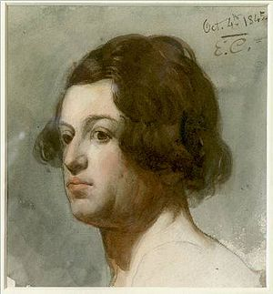 William Makepeace Thackeray - Thackeray portrayed by Eyre Crowe, 1845