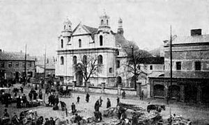 Częstochowa pogrom (1902) - New Market, at the turn of the century
