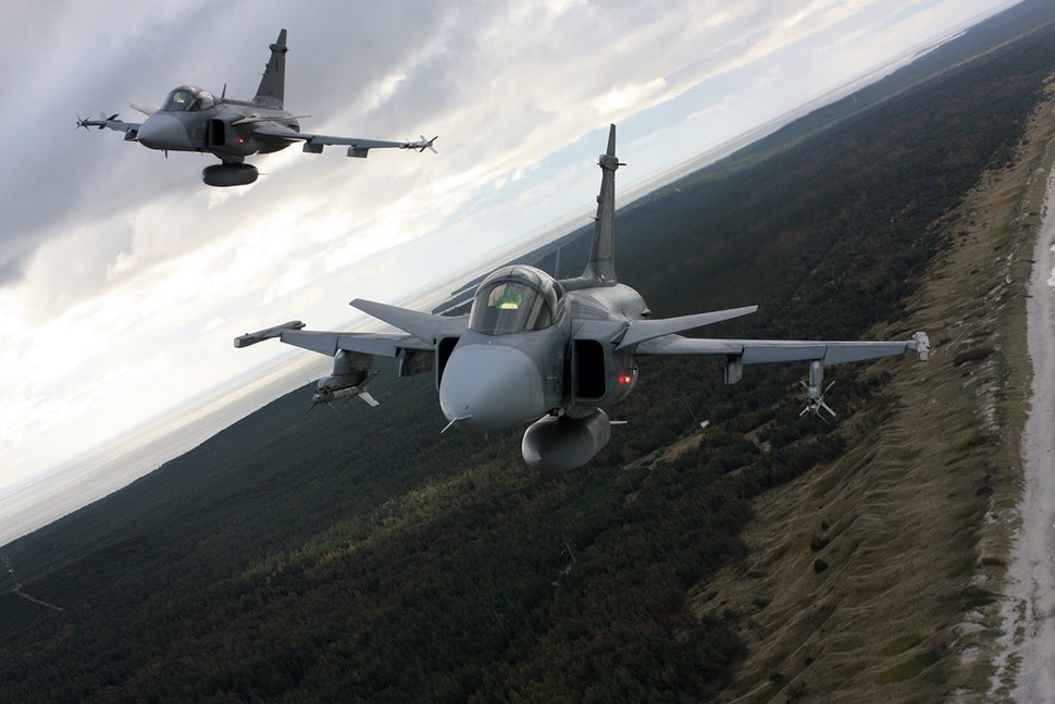 Czech JAS-39 Gripen over the Curonian Spit in 2012
