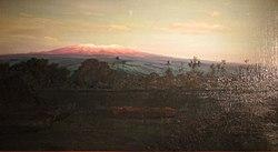 D. Howard Hitchcock: Mauna Kea from Wailoa River at Sunrise, Hilo