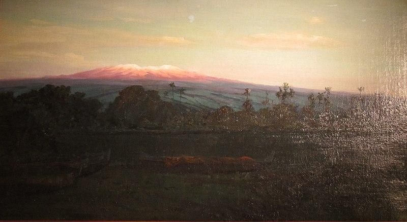 File:D. Howard Hitchcock - 'Mauna Kea from Wailoa River at Sunrise, Hilo', c, 1895.jpg