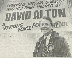 David Alton - David Alton and his 1979 by-election campaign poster