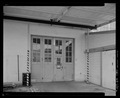 DETAIL VIEW, EAST REAR, INDUSTRIAL DOOR AND CANOPY - Machine Shop, Second Street and Dedrick Drive, Keyport, Kitsap County, WA HABS WA-259-6.tif