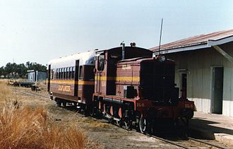 Gulflander - DL4 at Normanton in July 1991
