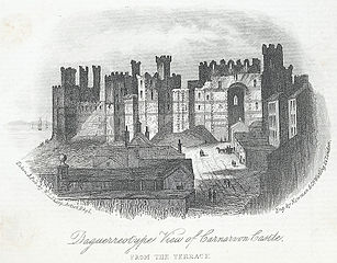 Daguerreotype View of Carnarvon Castle from The Terrace