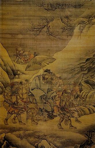 Zhong Kui - Image: Dai Jin. The Night Excursion of Zhong Kui. 189,7x 120,2. Palace Museum, Beijing