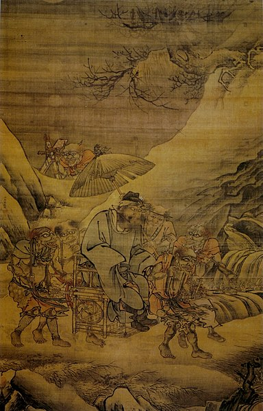 File:Dai Jin. The Night Excursion of Zhong Kui. 189,7x120,2. Palace Museum, Beijing.jpg