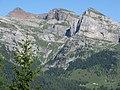 Dalla malga termoncello-vista sul sasso rosso con malga tuena, agosto 09 - panoramio.jpg