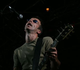 The Undertones - Damian O' Neill on stage with the Undertones in Barcelona, September 2007