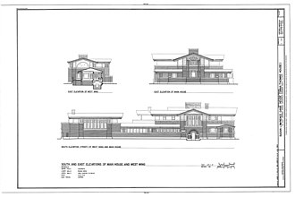 Dana–Thomas House - South and East exterior elevations